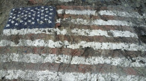 painted on a rock on 911